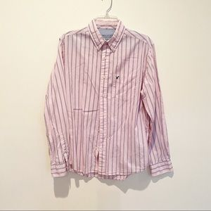 AEO  Pink & Blue Button Down Oxford Shirt